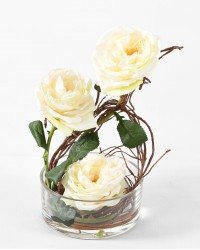 BOUQUET ROSES ANGLAISES artificiel