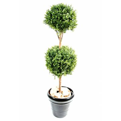 Boxwood artificial STEM DOUBLE BALL NEW