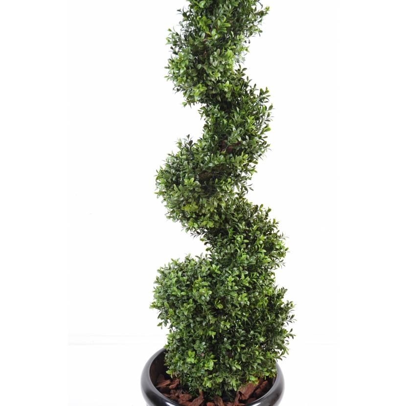 Buis artificiel new spirale fine for Arbuste buis artificiel
