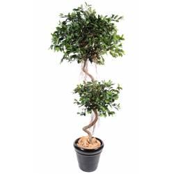Ficus artificial SPIRAL 2 BALLS