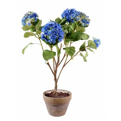 Hydrangea artificial POT EARTH
