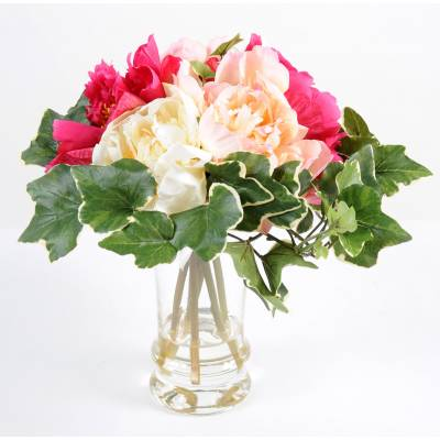 Bouquet artificiel PIVOINE BR