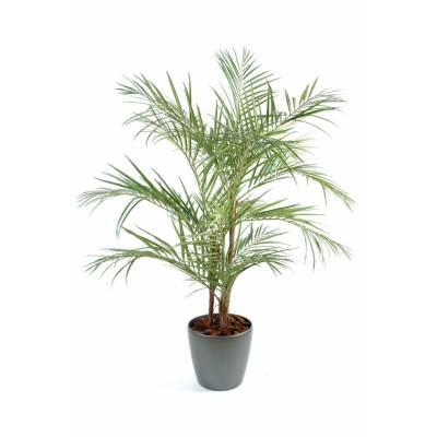 Areca Palm artificiel en pot rond