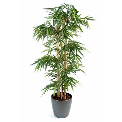 Bambou artificiel grosses cannes en pot rond