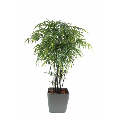 Bambou artificiel en pot carré