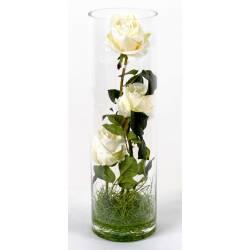 Bouquet artificiel ROSES BLANCHES
