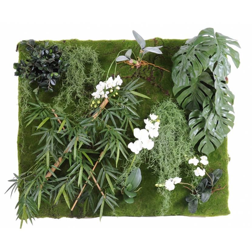 mur artificiel vegetal 130 110. Black Bedroom Furniture Sets. Home Design Ideas