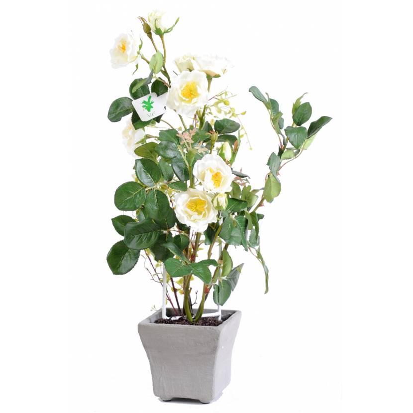 Rose bush artificial POTTED 50 CM