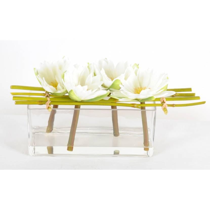 lotus artificiel vase. Black Bedroom Furniture Sets. Home Design Ideas