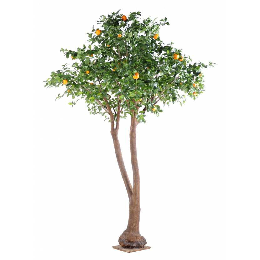 Oranger artificiel arbre double for Bambou artificiel 2m