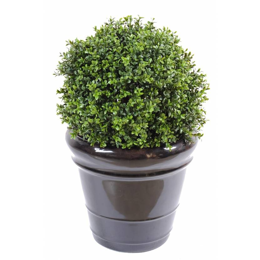 Buis artificiel boule new uv resistant for Arbre artificiel exterieur
