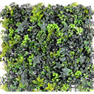Artificial wall BACKGROUND OF IVY BOXWOOD MIXT