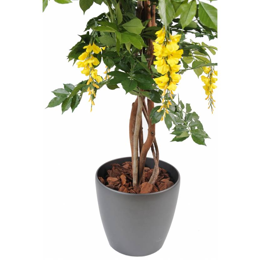 wisteria artificial multi tree in pot round. Black Bedroom Furniture Sets. Home Design Ideas
