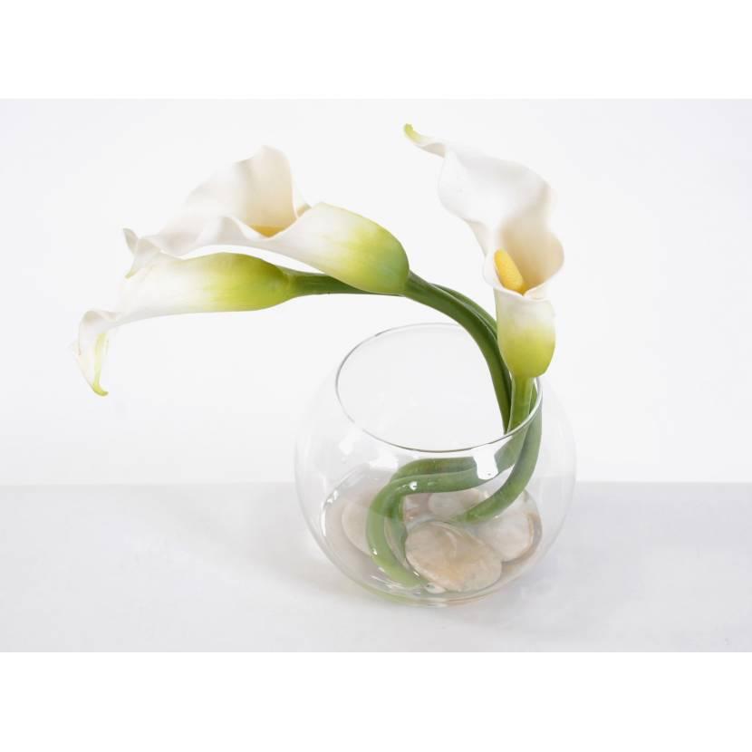 bouquet artificiel centre de table arum mini. Black Bedroom Furniture Sets. Home Design Ideas