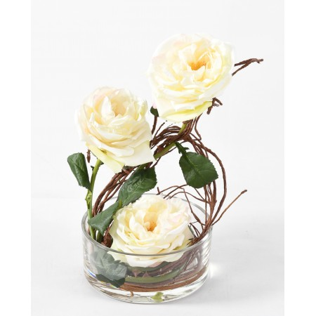 BOUQUET artificiel ROSES ANGLAISES