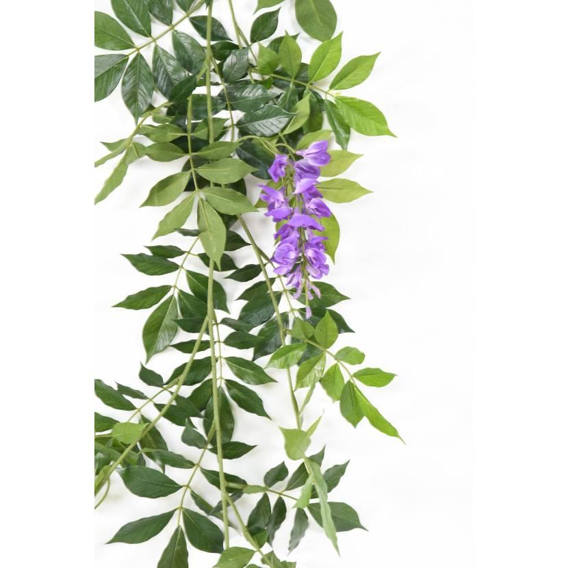 Glycine artificielle guirlande new for Guirlande fleurs artificielles