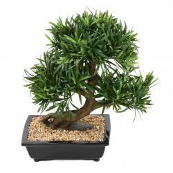 Bonsai artificial podocarpus cup