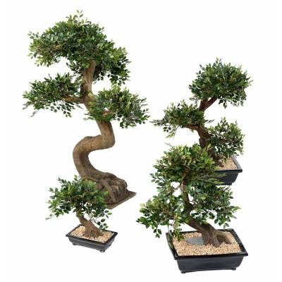 BONSAI ORME Artificiel EN COUPE gravier