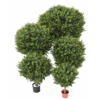 "BOXWOOD Artificial BALL ""RED DAY"" UV"