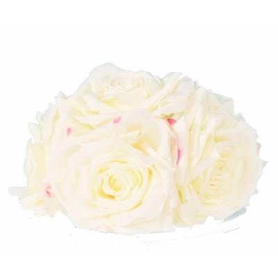 CENTER TABLE Artificial ROSES IN WHITE HABIT