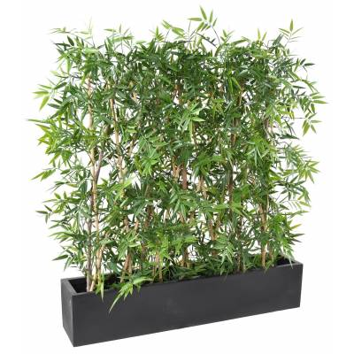 BAMBOO Artificial JAPANESE PLAST HEDGE DENSE UV PLANTER