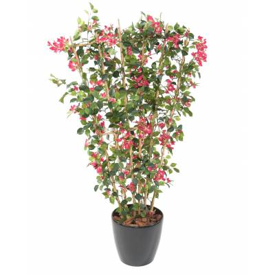 BOUGAINVILLE Artificial NEW FENCE IN POT ROUND
