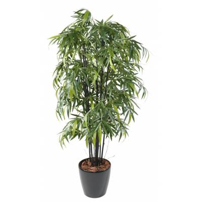 BAMBOO Artificial BLACK NATURAL NC POT ROUND