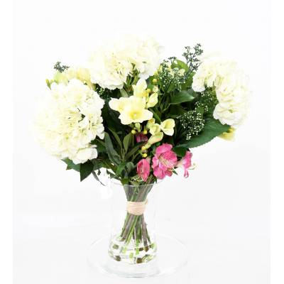 BOUQUET Artificial HYDRANGEA AND IVY BAY WHITE
