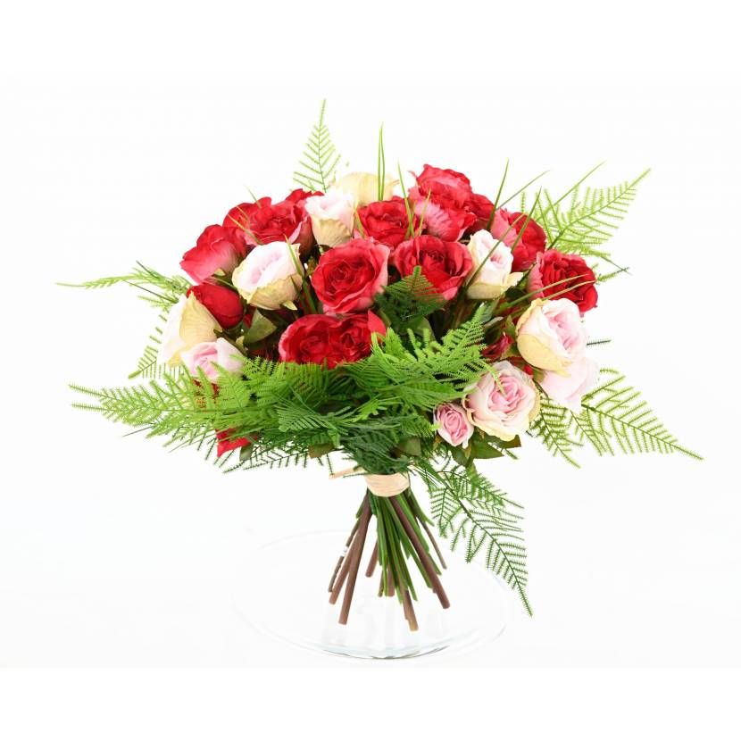 Bouquet Of Artificial Red Roses Without Vase